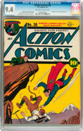 Golden Age (1938-1955):Superhero, Action Comics #38 (DC, 1941) CGC NM 9.4 Off-white to white pages....