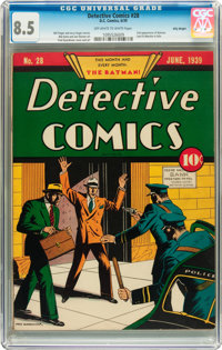 Detective Comics #28 Billy Wright pedigree (DC, 1939) CGC VF+ 8.5 Off-white to white pages