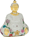 Luxury Accessories:Accessories, Judith Leiber Full Bead Multicolor Buddha Crystal MinaudiereEvening Bag. ... (Total: 2 Items)
