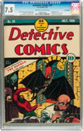 Golden Age (1938-1955):Superhero, Detective Comics #29 Billy Wright pedigree (DC, 1939) CGC VF- 7.5 Off-white to white pages....