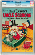 Golden Age (1938-1955):Cartoon Character, Four Color #386 Uncle Scrooge (Dell, 1952) CGC NM+ 9.6 Off-white to white pages....