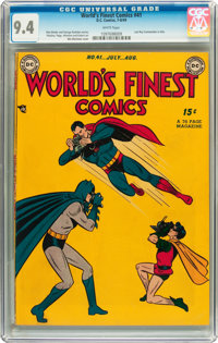 World's Finest Comics #41 (DC, 1949) CGC NM 9.4 White pages