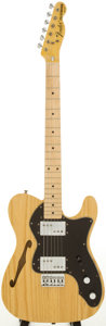 Musical Instruments:Electric Guitars, 1975 Fender Telecaster Thinline Natural Solid Body Electric Guitar,Serial # 575419 ....