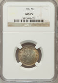 Liberty Nickels, 1894 5C MS65 NGC....