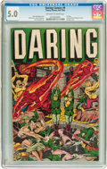 Golden Age (1938-1955):Superhero, Daring Comics #9 (Timely, 1944) CGC VG/FN 5.0 Off-white to white pages....