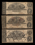 Confederate Notes:1863 Issues, SF58 $20 1863. SF58/426 $20 1863 Two Examples.. ... (Total: 3notes)