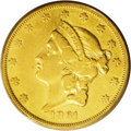 Liberty Double Eagles: , 1861-O $20 VF25 PCGS. With a mintage of just 17,741 pieces underthree separate issuing authorities, this issue has a convo...