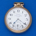 Timepieces:Pocket (post 1900), Hamilton 21 Jewel Rare Dial Adjusted For Railroad Service 16 SizePocket Watch. ...