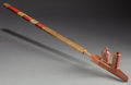 American Indian Art:Pipes, Tools, and Weapons, A SIOUX QUILLED WOOD PIPE . c. 1890...
