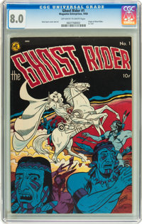Ghost Rider #1 (Magazine Enterprises, 1950) CGC VF 8.0 Off-white to white pages