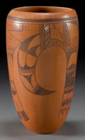 American Indian Art:Pottery, A HOPI BLACK-ON-RED VASE . Barbara Polacca...