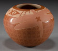 American Indian Art:Pottery, A JEMEZ ETCHED REDWARE JAR . Susan Folwell...