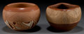 American Indian Art:Pottery, TWO SAN JUAN ETCHED REDWARE JARS. Rosita De Herrera and TomasitaMontoya . ... (Total: 2 Items)