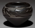 American Indian Art:Pottery, A SANTA CLARA CARVED BLACKWARE JAR. Mida Tafoya ...