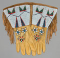 American Indian Art:Beadwork and Quillwork, A PAIR OF SIOUX BEADED LEATHER GAUNTLETS... (Total: 1 Pair)