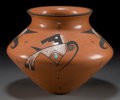 American Indian Art:Pottery, A HOPI POLYCHROME JAR . Agnes Nahsonhoya . ...