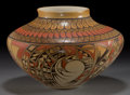 American Indian Art:Pottery, A HOPI POLYCHROME SEED JAR . Robert Silas Youvella...