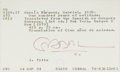 Autographs:Authors, Gabriel Garcia Marquez Signed Library Catalog Card....