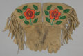 American Indian Art:Beadwork and Quillwork, A PAIR OF PLATEAU BEADED HIDE GAUNTLETS... (Total: 1 Pair)