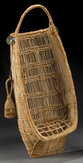 American Indian Art:Baskets, A HUPA WICKER BABY CARRIER . c. 1920... (Total: 2 Items)