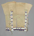 American Indian Art:Beadwork and Quillwork, A PAIR OF ARAPAHO WOMAN'S BEADED HIDE LEGGINGS. ... (Total: 1 Pair)