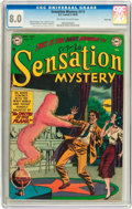 Golden Age (1938-1955):Horror, Sensation Mystery #111 River City pedigree (DC, 1952) CGC VF 8.0Off-white to white pages....
