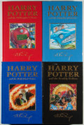 Books:Children's Books, J. K. Rowling. Four Harry Potter Deluxe Editions, including:Harry Potter and the Philosopher's Stone; Harry...(Total: 4 Items)