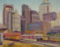 Texas:Early Texas Art - Modernists, FLORENCE ELLIOTT MCCLUNG (American, 1894-1992). Dallas,1930. Oil on canvas. 16 x 20 inches (40.6 x 50.8 cm). Signed low...