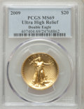 Modern Bullion Coins, 2009 $20 Ultra High Relief MS69 PCGS. Ex: Double Eagle. PCGSPopulation (6608/5923). NGC Census: (0/0). Numismedia Wsl. Pr...