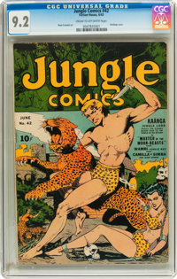Jungle Comics #42 (Fiction House, 1943) CGC NM- 9.2 Cream to off-white pages