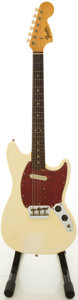 Musical Instruments:Electric Guitars, 1966 Fender Musicmaster Olympic White Solid Body Electric Guitar,#133802....