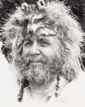 , PAUL CALLE (American, b. 1928). Mountain Man, 1985. Penciland ink on paper. 13 x 11 inches (33.0 x 27.9 cm). Signed and...