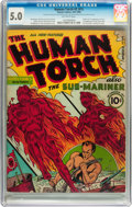 Golden Age (1938-1955):Superhero, The Human Torch #2 (#1) (Timely, 1940) CGC VG/FN 5.0 Off-white pages....