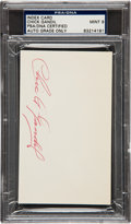 Autographs:Index Cards, 1960's Chick Gandil Signed Index Card, PSA/DNA Mint 9....