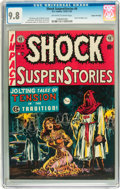 Golden Age (1938-1955):Horror, Shock SuspenStories #6 Gaines File pedigree 2/12 (EC, 1952) CGCNM/MT 9.8 Off-white to white pages....