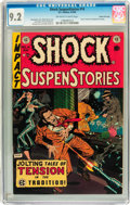 Golden Age (1938-1955):Horror, Shock SuspenStories #14 Gaines File pedigree 2/12 (EC, 1954) CGCNM- 9.2 Off-white to white pages....