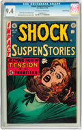 Golden Age (1938-1955):Horror, Shock SuspenStories #15 Gaines File pedigree 2/12 (EC, 1954) CGC NM9.4 Off-white to white pages....