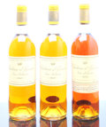 White Bordeaux, Chateau d'Yquem. Sauternes. 1969 2lbsl, honey color Bottle (2). 1971 bn, lbsl, dark honey color Bottle (1). ... (Total: 3 Btls. )
