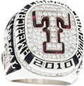 Baseball Collectibles:Others, 2010 Texas Rangers American League Championship Ring Presented toWarner Madrigal....