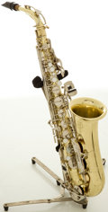 Musical Instruments:Horns & Wind Instruments, Selmer Bundy II Brass Alto Saxophone, #280935....