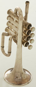 Musical Instruments:Horns & Wind Instruments, Circa 1980's Bach Silver Piccolo Trumpet, #293321....