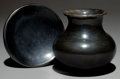 American Indian Art:Pottery, TWO SAN ILDEFONSO BLACKWARE ITEMS. Maria Poveka. c. 1975... (Total:2 Items)