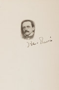 Autographs:Authors, James Barrie Signed Card....
