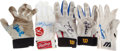 Baseball Collectibles:Others, Baseball Greats Game Worn, Signed Batting Gloves....