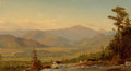 Fine Art - Painting, American:Antique  (Pre 1900), AMERICAN SCHOOL (19th Century). Extensive Landscape withMountain. Oil on canvas. 10 x 17-1/2 inches (25.4 x 44.5 cm).P...