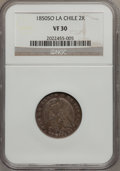 Chile, Chile: Republic 2 Reales 1850-LA, ...