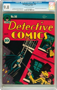 Detective Comics #56 (DC, 1941) CGC NM/MT 9.8 Off-white to white pages
