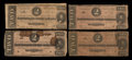 Confederate Notes:1864 Issues, T70 $2 1864 Four Examples.. ... (Total: 4 notes)