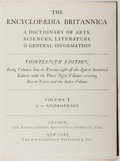 Books:Reference & Bibliography, The Encyclopaedia Britannica: A Dictionary of Arts, Sciences,Literature & General Information. London: Encyclopaedi...(Total: 16 Items)