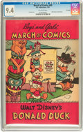 Golden Age (1938-1955):Funny Animal, March of Comics #69 Donald Duck - File Copy (K. K. Publications,Inc., 1951) CGC NM 9.4 Off-white pages....